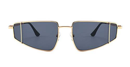 Epinki Unisex Polarisierte Sonnenbrille Sonnenbrille UV400 Schutz Retro Brille | Vollrand | für Alltag, Party, Fahren - Grau