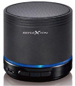Reflexion BTX1 tragbarer Bluetooth Lautsprecher mit MicroSD/AUX-IN/integriertem Akku schwarz Docking Digital Music System