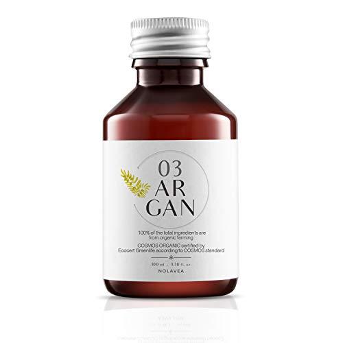 Olio di Argan Puro 100% Vegetale - 100 ml - Olio Bio e Vegano Spremuto a Freddo e Vergine - Prima Spremitura - Cura Viso Corpo e Siero Capelli - Nutre, Ripara, Tonifica e Idrata