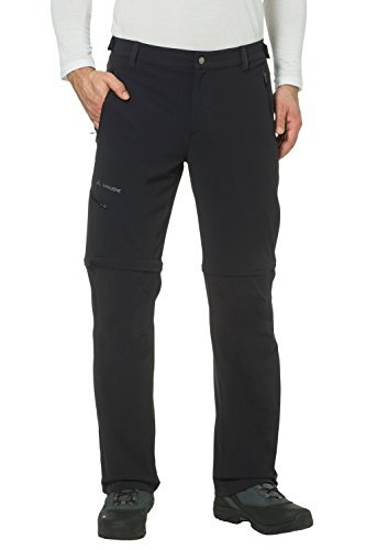 VAUDE Homme Pantalon Men's Farley Stretch T-Zip Pantalon II Noir noir 50 Long