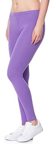 Ladeheid Damen Leggings Long LAMA02 Violett27