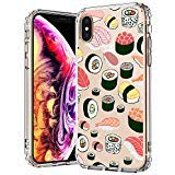 MOSNOVO iPhone XS MAX Hülle, Sushi Muster TPU Bumper mit Hart Plastik Hülle Durchsichtig Schutzhülle Transparent für iPhone XS MAX (Sushi)