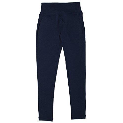 Lapasa Fit Women's Yoga Pants Tights Running Leggings (Large, Navy)