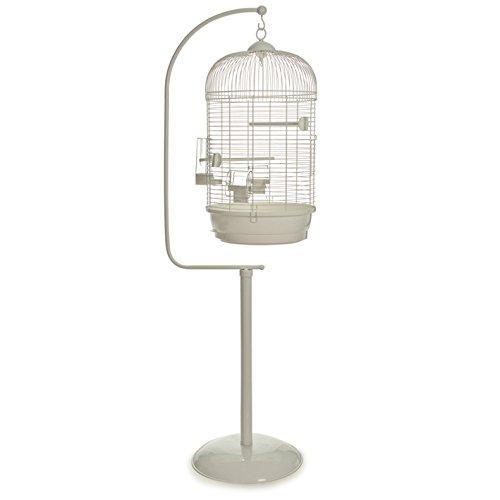 Vogelkäfig Voliere Vogelbauer rund mit passendem Ständer 'Julia & Jim' weiß