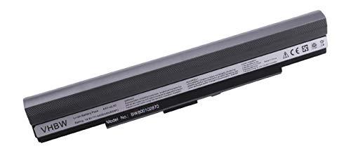 vhbw Batterie LI-ION 4400mAh 14.8V en Noir pour ASUS remplace A42-UL30, A42-UL50, A42-UL80