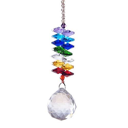 Minzhi Regenbogen unregelmäßige Kristalle Kugel Prism Transparent Anhänger Octagon Korn hängend Dekorative Drops