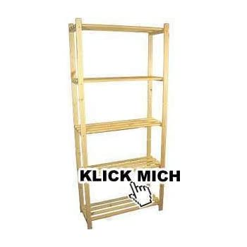 Holzregal keller  Holzregal-Kellerregal-Stauraumregal-Raumteiler (B:75-H:175-T:40cm ...