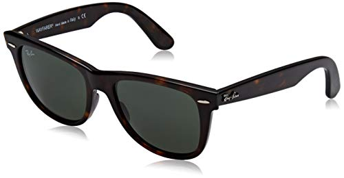 Ray-Ban Unisex-Erwachsene Original Wayfarer Classic Sonnenbrille, Braun (Tortoise Frame With Green G-15 Lenses), 54.0