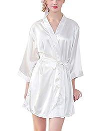 PengGengA Damas Camisones De Las Mujeres Largo De Seda Sexy Nightclothes Y Kimonos De Satén Bata