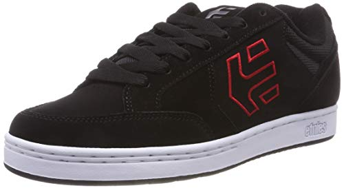 Etnies Herren Swivel Skateboardschuhe,Schwarz (Black/Red 595), 43 EU