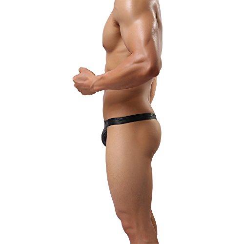MuscleMate Herren String Sexy Thong Männer G-String Thong Ultradünner Atmungsaktive Sexy Slip Thong Unterhose G-String S