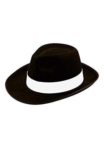 Kostüm Mädchen Mafia - Herren Kostüm Hut - Al Capone Gangster 20er Jahre Filzhut Michael Jackson - Schwarz, Keine Angaben