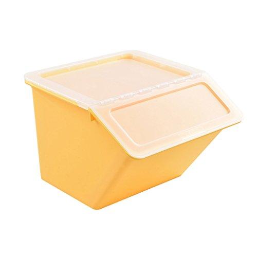 Speicher-einheit-kombination (GYY Clamshell-Aufbewahrungsbox-Gelb-transparenter bedeckter Plastikfrontöffnungs-Kleidungs-Spielwaren, die Kombination Snack-Küche-Stapel-Maßeinheit beenden)