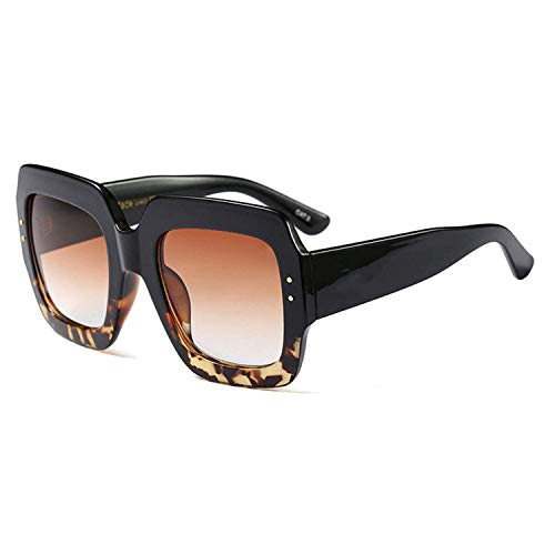 OULN1Y Sport Sonnenbrillen,Vintage Sonnenbrillen,Oversized Square Sunglasses Women Luxury Designer Red Green Sun Glasses Female Vintage Shades Eyewear