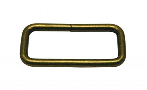 Generic Bronze en Métal Rectangle Boucle 5,1 x 2 cm à l'intérieur Dimension pour sangle Keeper Lot de 10
