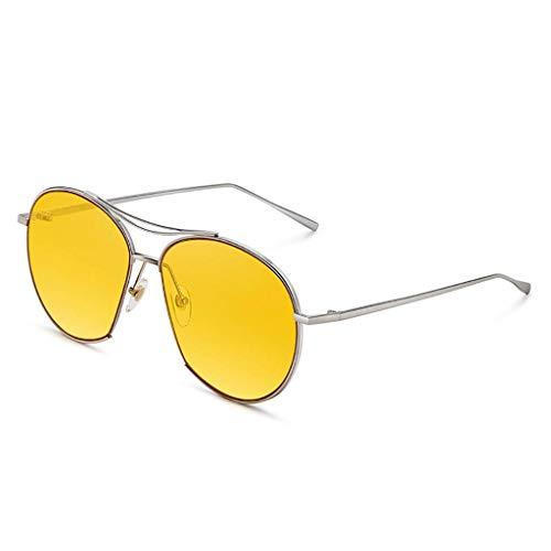 KISlink Sonnenbrille Halbrand Horned Rim Sonnenbrille Fashion UV-Schutz Damenbrille Eyewear Eyewear (Farbe: D)