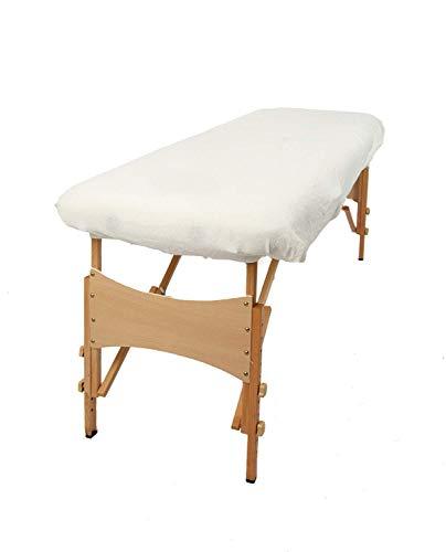 TowelsRus Aztex valor clásico cubierta Sofá de masaje Sin agujero en la cara,Blanco