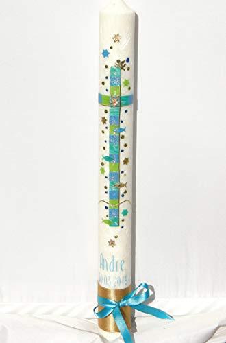 Kerze 400/40 mm Kreuz Mosaik Schleife ()