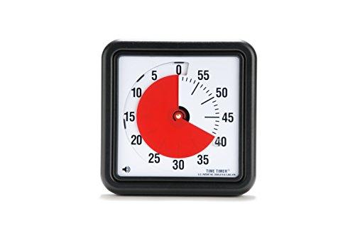 Time-Timer Medium 18cm, Uhr für Zeitverwaltung, Zeitmanagement geeignet für Büro, Klassenzimmer, zu Hause, Kinder mit (Kinder mit ADHS, ADD, Autismus, Asperger-Syndrom) inkl. 1x Haftnotiz-Zettel) - Medium-uhr
