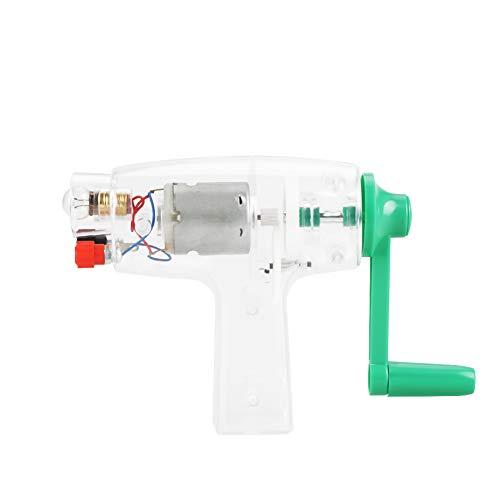 Wal front Tragbare Handheled Kurbel, Manuelle Strom DC Generator Glühbirne Kit Wissenschaftliches Experiment Kinder Entdeckung Spielzeug - Glühbirne Experiment