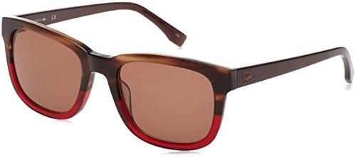 Lacoste l814s_210, occhiali da sole unisex adulto, rosso/marrone, 54