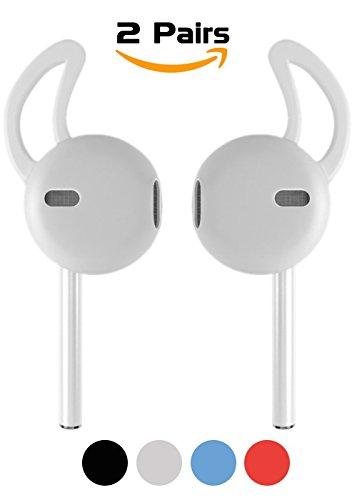 Cover Airpods Accessori, Bidear Gancio Auricolare Silicone Custodia Auricolari per Apple iPhone e Airpods 7/6 / 6S / Plus / 5SE EarPods(Trasparente)