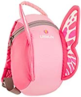 LittleLife Butterfly Toddler Backpack With Safety Rein, 18 x 14 x 23 cm