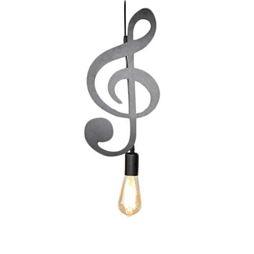 MachinYesell Notes de musique nordiques en fer forgé lustre créatif moderne chambre salon décoration petit lustre (couleur: noir)