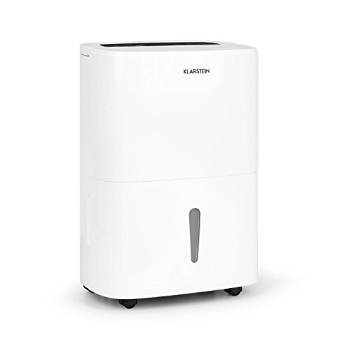 Klarstein DryFy 20 • Deumidificatore a Compressione • 20 L/24h • 420 W• 40-50 m² (Fino 125 m3/h) • Timer • modalità silenziosa • Automatico e Regolabile • Maniglia per Trasporto • Bianco