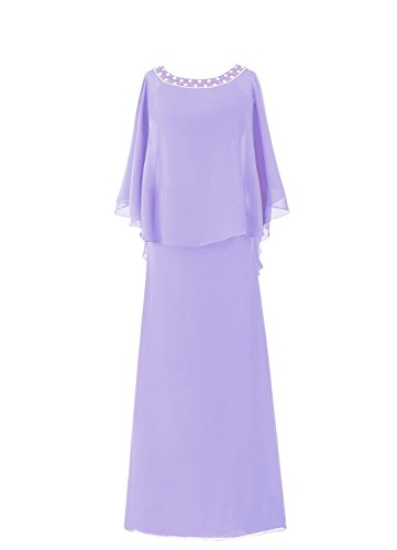 HWAN Frauen Mantel Flutter Sleeve Lange Mutter der Braut Kleid (Abendkleider Von Jovani)
