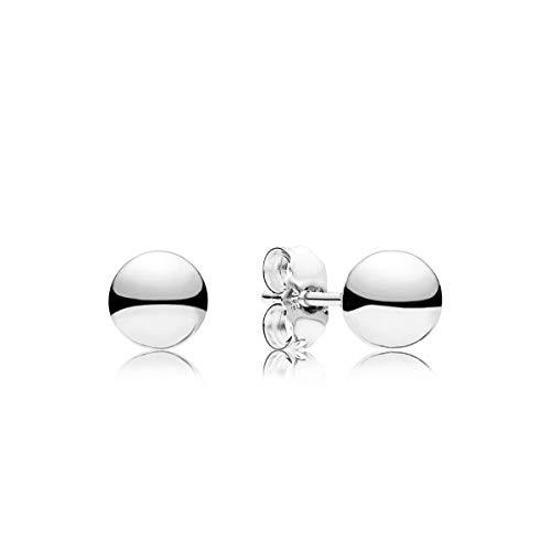 13 - Pandora Pendientes de botón Mujer plata - 297568