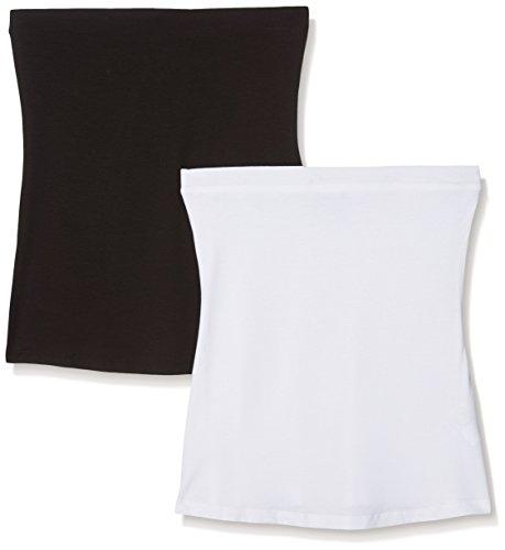 Simply Be Canotta Donna (Pacco da 2) Multicoloured (Black/White)