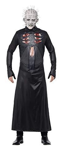 Smiffys, Herren Pinhead Kostüm, Bedruckte Tunika und Maske, Hellraiser, Größe: M, 27149 (Halloween Pinhead Kostüm)