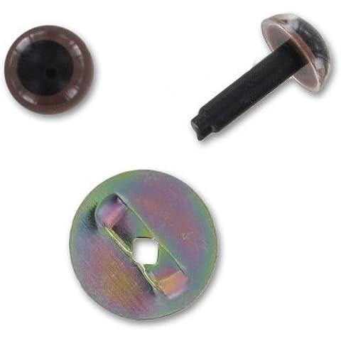 Occhi con sigurità in plastico 6 mm marone opaco (6 Mm Opaco)