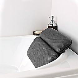 HALOViE Badewannenkissen Nackenkissen Luxus Badekissen Wannenkissen mit Starke Saugnäpfen Kissen für die Badewanne Bath Pillow