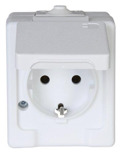 kopp 100602003 aufputz feuchtraum schutzkontakt steckdose mit klappdeckel 100602003 kopp. Black Bedroom Furniture Sets. Home Design Ideas