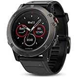 Garmin Fenix 5X Sapphire Multisport Watch, 51 mm (Slate Grey with Black Band)
