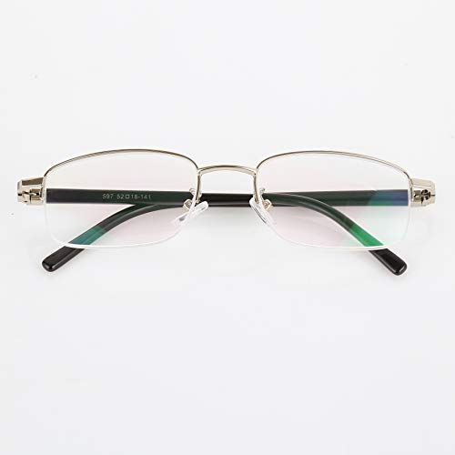 Fannty Spring Foot Round Frame Reading Glasses With High-Definition Resin Lens Fatigue-Less For The Elderly