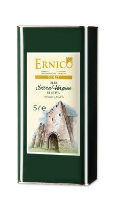 Ernico gold - 5 l - olio di oliva extravergine italiano dei monti ernici superiore estratto a freddo