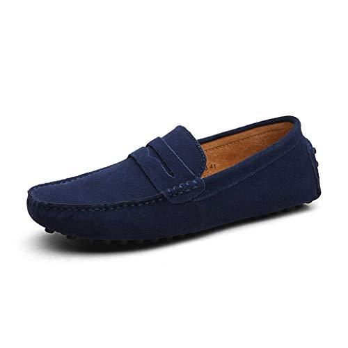 8f511fb745537 CCZZ Mocasines Hombre Buena Calidad Cuero de Gamuza Loafers Casual Zapatos  de Conducción Comodidad Calzado Plano 38-49 EU