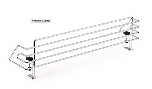 Kindersicherung, Chrom - B 975 x T 150 x H 149 mm