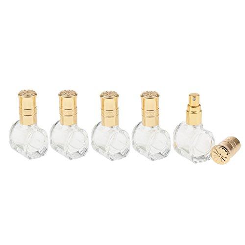 Homyl 5er-Set Parfüm Zerstäuber Glas Parfümzerstäuber Leere Sprühflasche 10ml, Handtasche Design