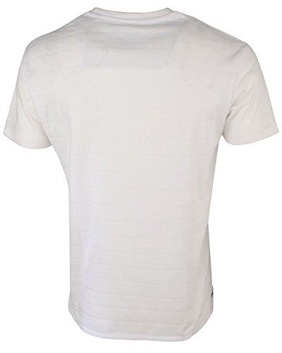 Threadbare Herren 'Stockton' Texturiert Streifen Effekt T-Shirt Weiß