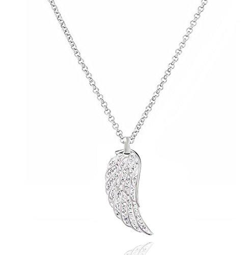 Akki Lebensbaum Swarovski Strasssteine Schmuck Silber Lebens Blume Halskette mit Swarovski Kristall Halskette Silber Schmuck Frauen Geschenk Liebe-Familien-Baum-Halskette Model #1