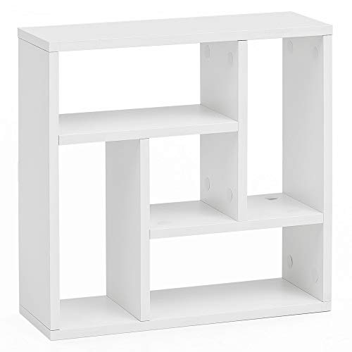 FineBuy Wandregal FB14527 Weiß 45x45x16 cm Holz Hängeregal Modern | Design Wandboard Freischwebend | Holzregal Regal für die Wand | Bücherregal Schmal | Dekoregal Schweberegal Quadratisch (Regale Wand Weiße)