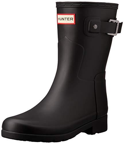 Hunter WFS1098RMA Damen Boots Kautschuk Zierriemchen Textilfutter/-innensohle, Groesse 9, schwarz