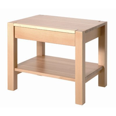 Haku-Möbel 30412 Beistelltisch 50 x 40 x 45 cm, buche gedämpft