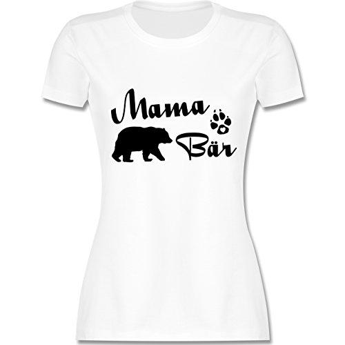 Muttertag - Mama Bär Lettering - XL - Weiß - L191 - Damen Tshirt und Frauen T-Shirt - Armee Mom Weißes T-shirt