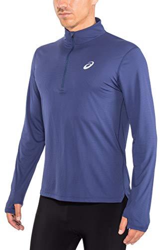 ASICS Silver Half-Zip Laufshirt Herren dunkelblau, M (48/50 EU) -