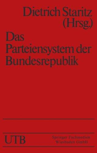 Das Parteiensystem der Bundesrepublik (Universitätstaschenbücher) por Dietrich Staritz